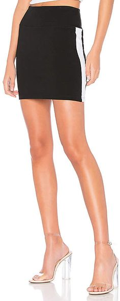 7d5b063761 Shop for Bobi Athleisure Jersey Mini Skirt in Black   White at REVOLVE.