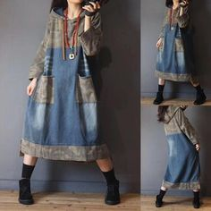 Denim Fashion, Boho Fashion, Fashion Outfits, Womens Fashion, Sewing Clothes, Diy Clothes, Ropa Upcycling, Jeans Trend, Diy Vetement