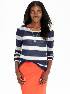 Women's Mesh-Knit Sweaters Product Image