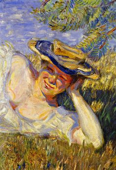 franz marc(1880-1916), two woman on a hillside (fragment), 1906. oil on canvas, 76.5 x 53 cm. private collection http://www.the-athenaeum.org/art/detail.php?ID=57700