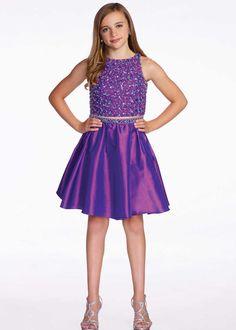 Lexie by Mon Cheri TW11653 Girls 2 Piece Taffeta Party Dress