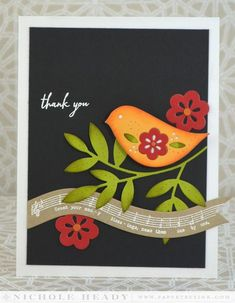 Thank You Blessings Card by Nichole Heady for Papertrey Ink (October 2014)
