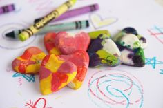 Crayon Valentines  http://www.ourbestbites.com/2012/02/how-to-make-muffin-tin-crayons-and-a-printable/
