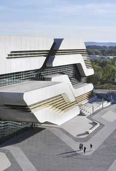 Pierres Vives Library & Sports Department Building in Montpellier, France By Zaha Hadid Architects