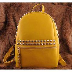 Womens lemon leather shoulder backpacks $149.00 - Out of stock