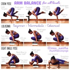 Arm Balance for all levels Yoga tutorials for beginners & intermediates Check out my IG account @miss_sunitha #sunithalovesyoga for more tutorial cues and details