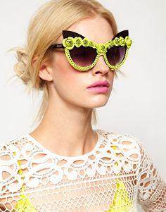 9a50d510ca8 A-morir - Yellow Amorir Bryson Floral Sunglasses - Lyst