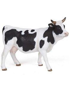 Papo Black And White Cow