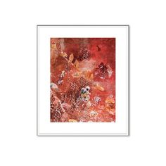 Red  Fall  Garden #Autumn art painting print   11x8  Reds   soft pinks by HelenKilsby