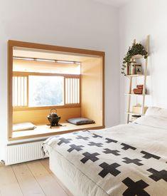 Mjolk bedroom sub espacio dormitorio nicho madera
