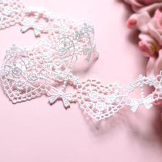 Håndlaget Tilbehør hvit silke bow blondere hjerter - Taobao