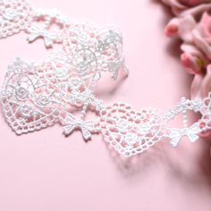 Håndlaget Tilbehør hvit silke bow blondere hjerter - Taobao Crochet Necklace, Bows, Sewing, Jewelry, Dressmaking, Jewlery, Crochet Collar, Couture, Jewels