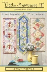 Little Charmers, House Quilts, Baby Quilts, Table Runner Pattern, Quilts For Sale, Quilted Table Runners, Charm Pack, Small Quilts, Quilt Patterns