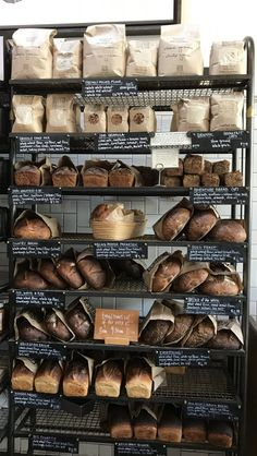 Fresh bread daily at the Mill in San Francisco. Bakery Cafe, Bakery Decor, Bakery Interior, Home Bakery, Bakery Shops, Bread Packaging, Bakery Packaging, Food Packaging Design, Bread Display