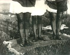 """thehystericalsociety: """" Stockings - early 1900s? (Via) """""""