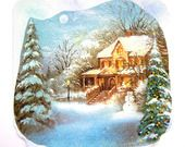 Très jolie carte de voeux faite main et son enveloppe décorée N° 6, collages, pastel et vernis. : Cartes par matt-et-les-petits-cadeaux