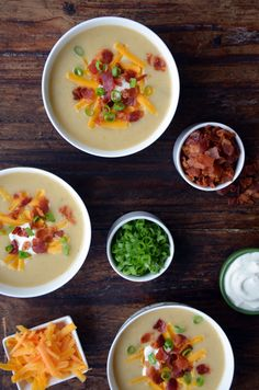 Loaded Baked Potato Soup from @Kelly Senyei | Just a Taste