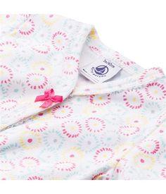 Kurzer Baby-Einteiler für Mädchen, aus Baumwolle, mit grafischem Blumenprint