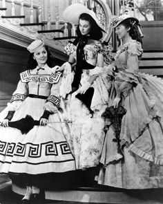 Gone With The Wind-Ann Rutherford as Carreen O'Hara, Vivien Leigh as Scarlett O'Hara and Evelyn Keyes as Suellen O'Hara.