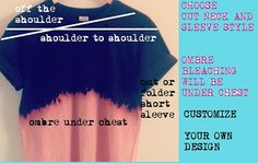 Custom Bleach Tshirt Design your own by OCVintageArtCouture, $24.99