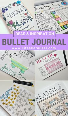 Bullet Journal Ideas | Ideas & inspiration for your Bullet Journal. Layout ideas, how to start a bujo, spreads, tracker, pages and more