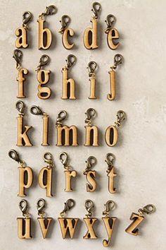 Wooden letter pendant