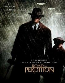 "2002 ""The Road To Perdition' is set in the 1930's and is about the Irish Mob and the east Coast and Chicago mob Tom Hanks is a real bad guy in this one and his son discovers his occupation. It is a dark and adventurous movie and I loved it!"