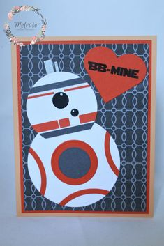 Star Wars Valentine's Day Card Blank inside and envelope included Text: BB-MINE Background colour/pattern may differ slightly. Star Wars Bb8, Background Colour, Colour Pattern, Blank Cards, Paper Design, Colorful Backgrounds, Envelope, Valentines Day, Kids Rugs