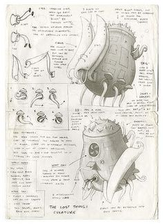 the lost thing shaun tan character design - Google Search