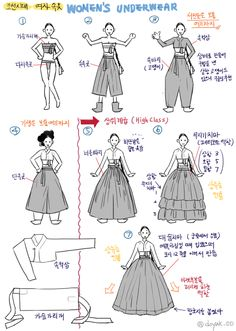 How to wear Hanbok Korean Traditional Dress, Traditional Fashion, Traditional Dresses, Korean Dress, Korean Outfits, Costume Ethnique, Modern Hanbok, Korean Art, Drawing Clothes