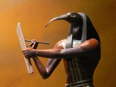 "Thoth (""TAY-oh-tet"" or ""thoth""). ""He who is like the Ibis;"" the ibis-headed Egyptian deity of writing, language, science, astronomy, astrology, and esoteric arts. The husband of Maat, he's believed to be the originator of written language and scribe of the gods. Call on Thoth to access the Akashic Records, and understand and unlock the wisdom of spiritual texts. He is a wonderful guide for any writing project."