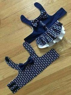 Nautical Theme Dog Harness Dress – Dog Harness Vest Bruder / Schwester koordinieren Hundegeschirr Kleid This image has get. Puppy Clothes, Doll Clothes, Girl Dog Clothes, Dog Clothes Patterns, Sewing Patterns, Dog Items, Dog Pattern, Girl And Dog, Dog Sweaters