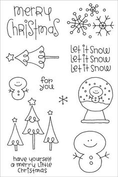 Doodlebug clear stamp but could make a cute little Christmas decoration! (xmas