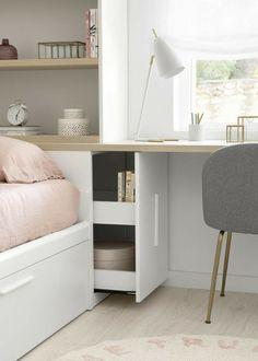 Tiny Bedroom Design, Teen Bedroom Designs, Small Room Design, Room Ideas Bedroom, Home Room Design, Kids Room Design, Small Room Bedroom, Home Office Design, Bedroom Furniture