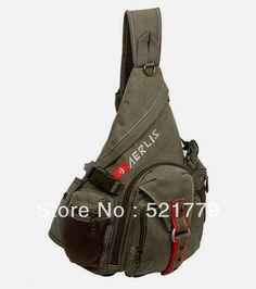 New Men's Canvas bags Cotton Sling Messenger Shoulder Bag army green