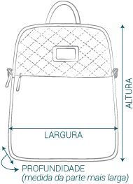 Uma mochila e uma bolsa em um modelo só? Você não vai querer perder, venha conhecer e garantir a sua agora mesmo!