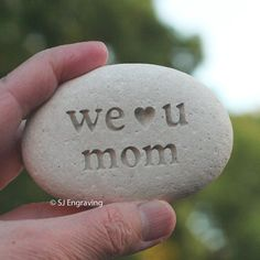 Engraved stone for mother exclusive design by by sjengraving