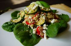 Quinoa, grilled courgette and feta salad from eatdrinkplaylondon