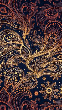 Coloring idea paisley wallpaper, golden wallpaper, wallpaper art, pattern w Mandala Wallpaper, Paisley Wallpaper, Screen Wallpaper, Cool Wallpaper, Pattern Wallpaper, Wallpaper Backgrounds, Mobile Wallpaper, Vintage Flower Backgrounds, Backgrounds Free
