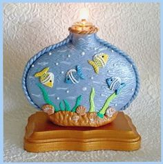 Decorative Mini Oil Lamp by RFColorfulCreations on Etsy, $14.00