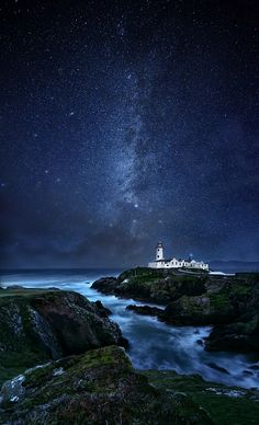 "Not sure this ""photo"" is legit but I love the look:  Fanad Lighthouse, County Donegal in Ireland."