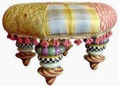 Милые сердцу штучки: Декоративные пуфы и скамеечки