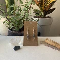 Handcrafted Smokey Quartz Earrings Available for Sale on my Etsy!