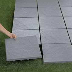 Create an instant patio-on any grass, dirt or sand surface with our set of 20 Patio Tiles. They install in seconds for an impromptu barbecue, yet can be easily removed for a quick game of touch football. Patio Tiles, Outdoor Flooring, Indoor Outdoor Furniture, Outdoor Decor, Outdoor Ideas, Outdoor Patio Designs, Backyard Ideas, Backyard Designs, Garden Ideas