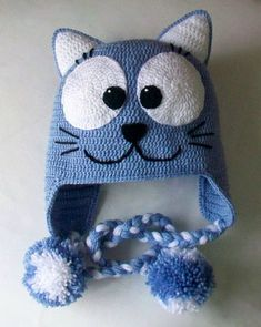 2 x 42 KB) - Crochet Scarfs, Hats, headwarmers & Gloves - Crochet Animal Hats, Crochet Kids Hats, Crochet Beanie Hat, Crochet Baby Clothes, Crochet Crafts, Crochet Projects, Knitted Hats, Free Crochet, Diy Crafts