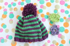 Knit by Bit: free baby hat knitting pattern on LoveKnitting