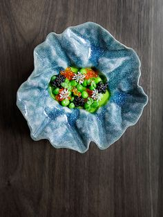 Pea custard, peas, trout roe, and caviar by chef Matt Lambert. © Signe Birck. - See more at: http://theartofplating.com/editorial/awakening-the-spirit-of-new-zealand-with-matt-lambert-at-the-musket-room/#sthash.OPBepvZv.dpuf