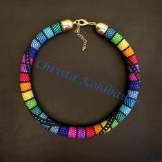 ЖГУТЫ Home Trends 2018 home trends Seed Bead Necklace, Seed Bead Bracelets, Seed Bead Jewelry, Bead Jewellery, Beaded Jewelry, Beaded Necklace, Necklaces, Bead Crochet Patterns, Bead Crochet Rope