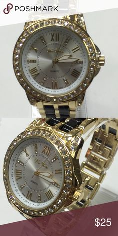 Gold watch for any occasion Weather its for a gift or foryourself, its a beautifl watch with gold and black tone.  Please inquire Accessories Watches