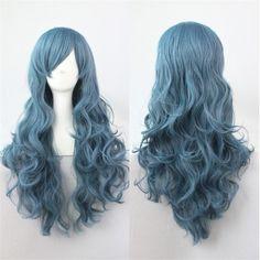 Cadılar bayramı duman rozen maiden peruk isıya dayanıklı ombre sentetik peruk kadın lolita cosplay peruk için cheaps uzun peruk kıvırcık saç